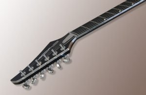 Head with more of fretboard with backlit markers