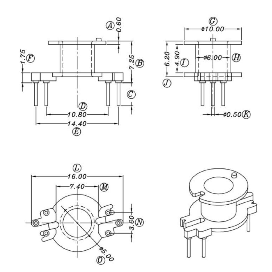 Bobbin Mechanical Drawing